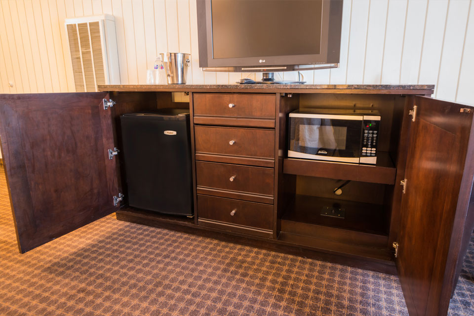 Standard Two Double Beds | Cabinet